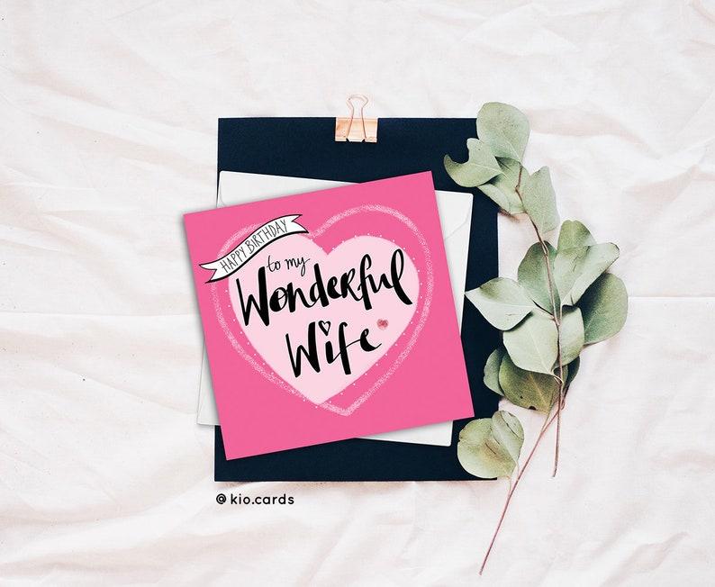 Wife Birthday Card, Romantic Wife Card, Romantic Birthday Card, Wife Gift,  Card For Wife, Cute Wife Card, Wonderful Wife, Love My Wife