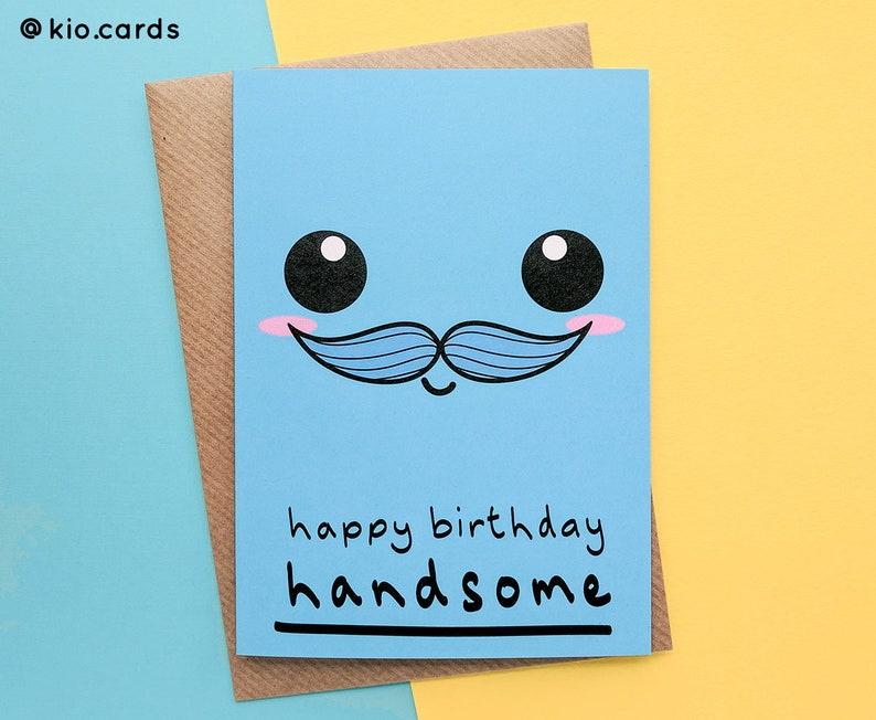 Karte Geburtstag Mann.Schöner Mann Geburtstag Karte Mann Kawaii Gesicht Mann Geburtstagskarte Schnurrbart Geburtstag Mann Geschenke Lustige Geburtstagskarte