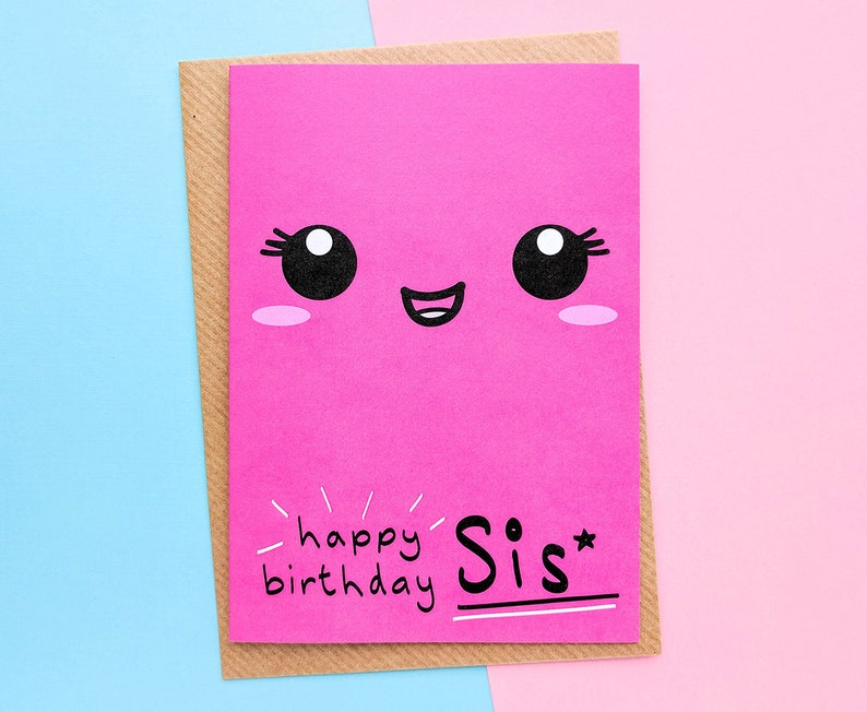 Sister Birthday Card To My Sister Little Sister Birthday