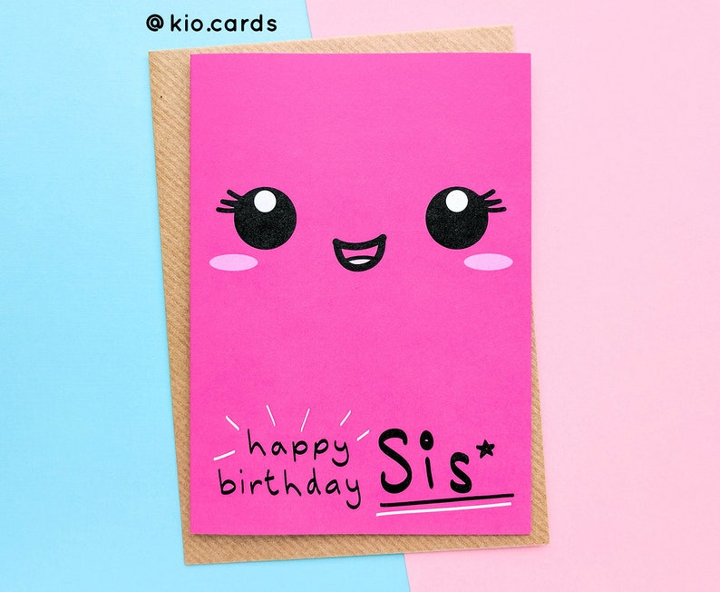 Sister Birthday Card To My Little