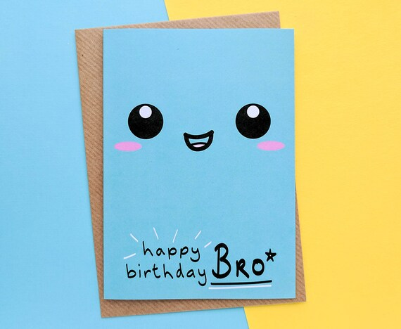 Brother Birthday Card Brother Gift Ideas To My Brother Big Etsy