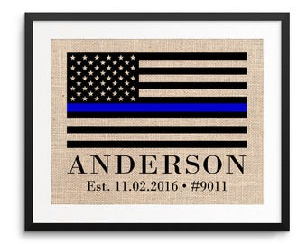 Police Officer Gifts, Thin Blue Line Flag