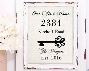 Realtor Closing gift, First Home Gift, Housewarming Gift, Our New Home, Realtor Gift, Gift for clients, Newlywed Gift, Skeleton Key