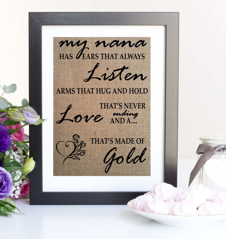 Quote For Nana Or Grandma Birthday Gift Idea