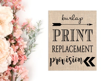 Burlap Replacement Provision