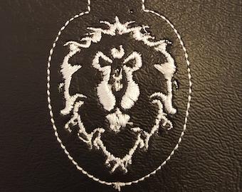 World of Warcraft Alliance Symbol Key Fob Machine Embroidery Design