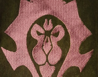World of Warcraft Faction Double Agent Machine Embroidery Design