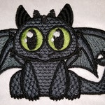 Chibi Like Toothless Inspired Machine Embroidery Design