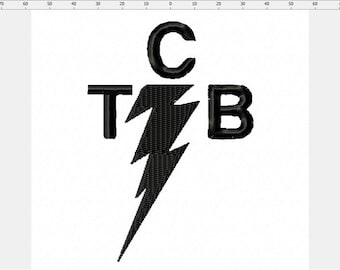 Elvis TCB Band Inspired Logo Embroidery Design