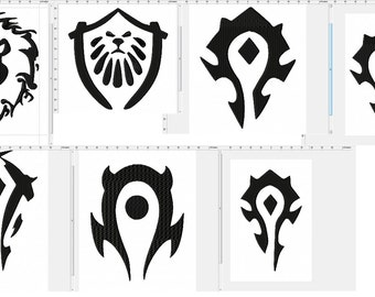 World of Warcraft Faction Collection Machine Embroidery Design