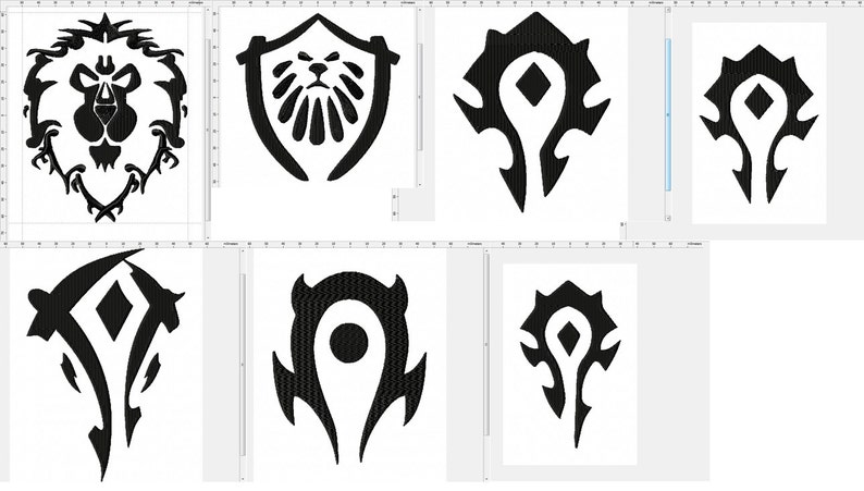 World of Warcraft Faction Collection Machine Embroidery Design image 0