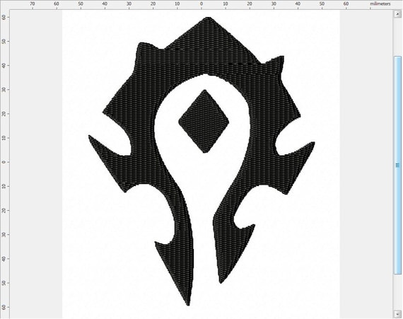 World Of Warcraft Short Horde Symbol Machine Embroidery Design Etsy The horde is one of the two major political factions of the mortal races in azeroth, its counterpart being the alliance. world of warcraft short horde symbol machine embroidery design