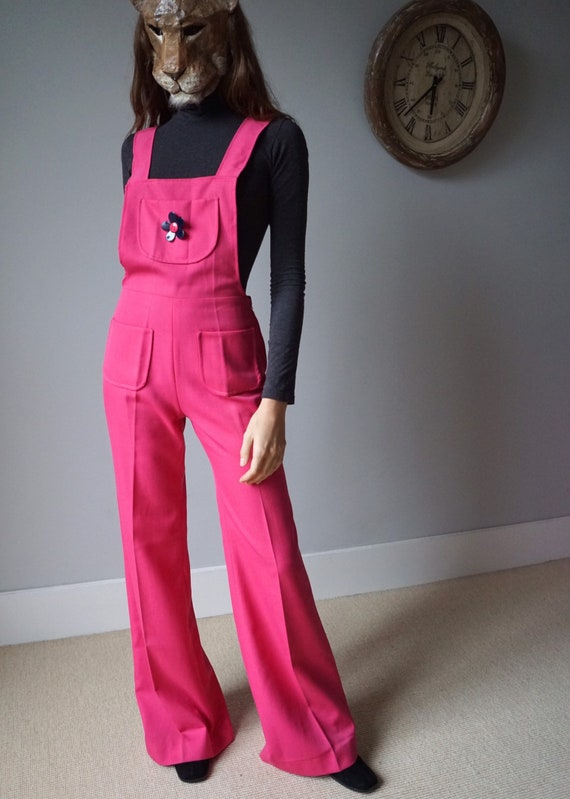 Candy Pink 70s Bell Bottoms Jumpsuit