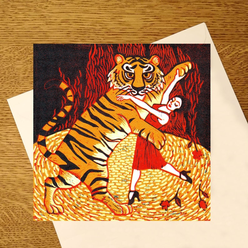 Tiger Argentina greetings card  for those who love tigers and image 0