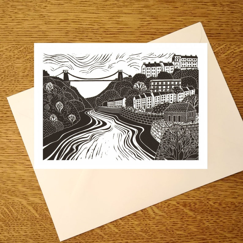 Clifton Suspension Bridge A6 greetings Card for those who image 0