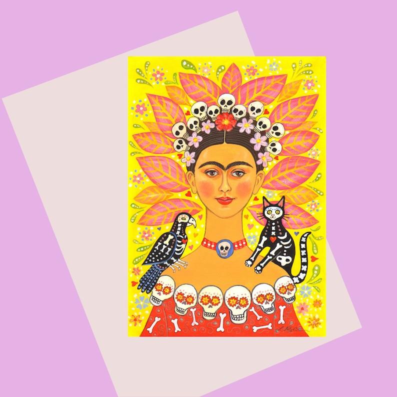 Frida Kahlo Greetings Card A6 Frida and Friends image 0