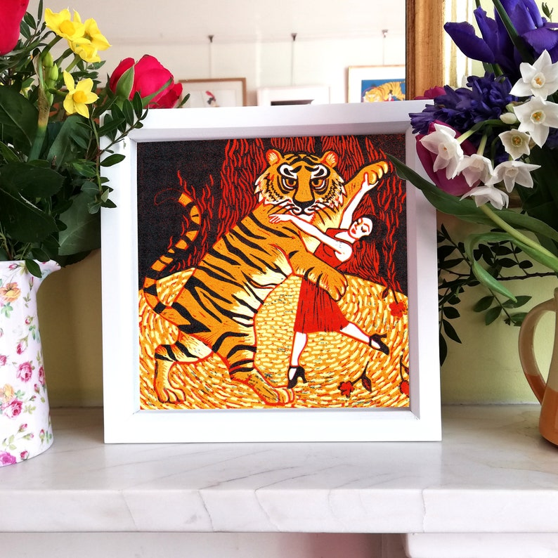 Tiger Argentina Signed Giclee 30x30cm Limited Edition Dancing image 0