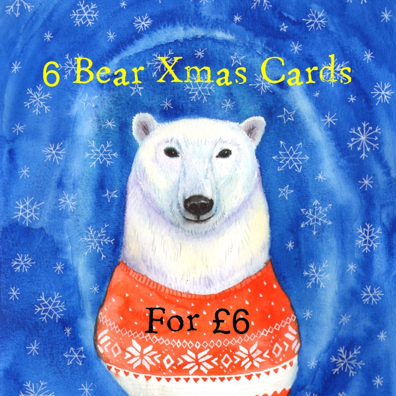 Christmas cards pack Special Christmas Offer: 6 bearcards for image 0