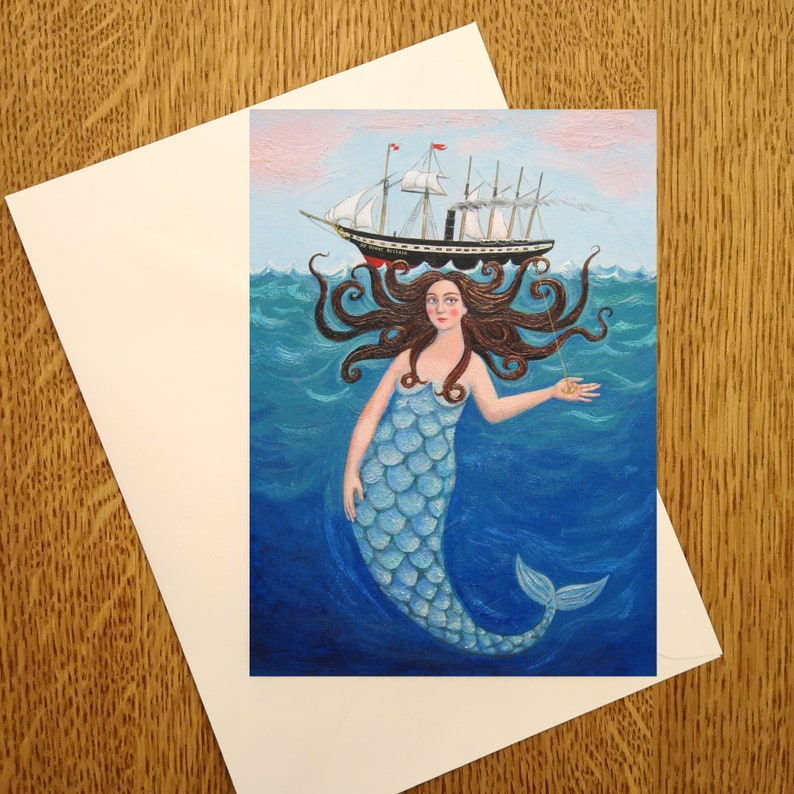 SS Great Mermaid A6 greetings Card for those who love image 0