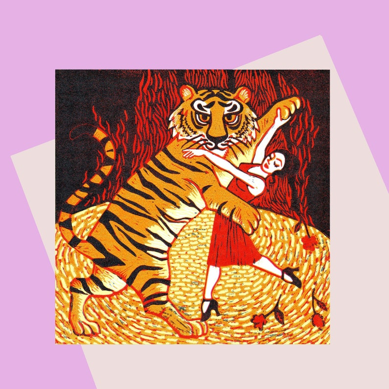 Tiger Argentina  Greeting Card  For Tiger Lovers  And For image 1