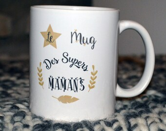 Super Mama mug Cup Noël Anniversaire customizable personalized mothers day gift