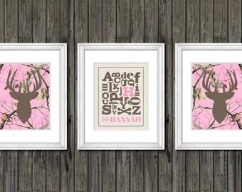 Girls nursery decor pink and gray nursery decor puppy dog | Etsy