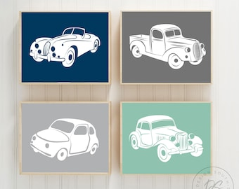 Vintage car and truck decor vintage nursery decor boys   Etsy
