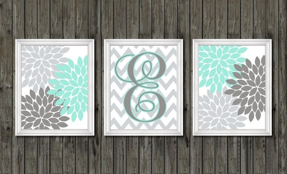 Girls bedroom teal, wall decor for girls, wall art for girls, teal decor  girls room, teal art baby girl, teal monogram, teal and gray girls