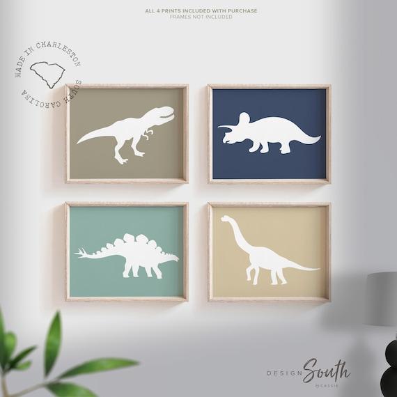 Dinosaur Room Dinosaur Wall Art For Boys Dinosaur Nursery Etsy
