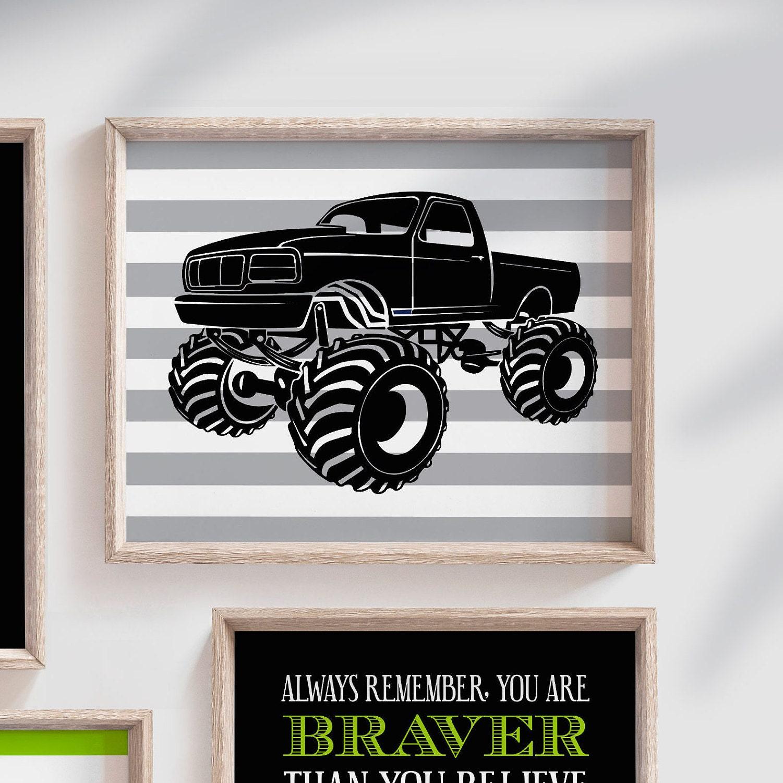 Big boy bedroom trucks, boys truck theme, monster truck ...