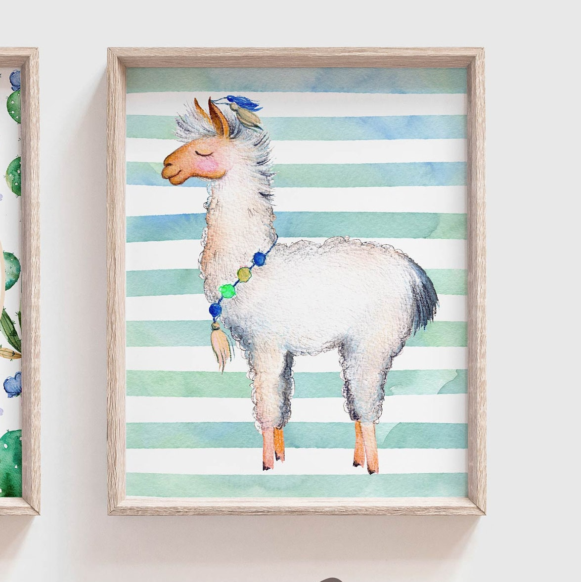 15 Boho Bedroom Designs: Llama Decor, Llama Wall Art, Boy Llama Nursery, Cactus