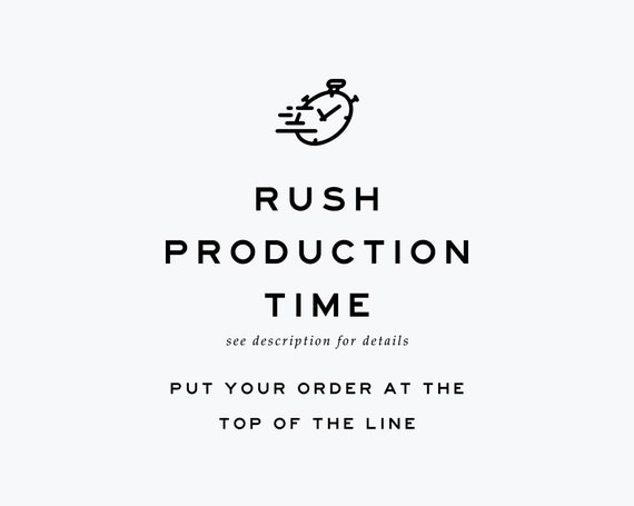 1 Business Day Production Rush BohoBabyArt