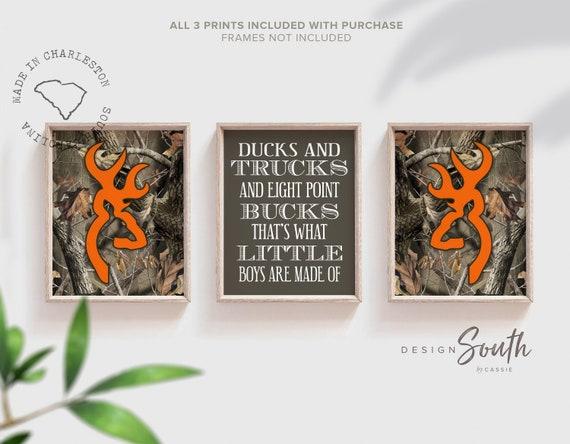 Orange Browning Deer Embroidery Camouflage Handmade Baby Bib
