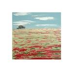 POPPY FIELD,  Limited Edition Giclee Prints by Suzanne Whitmarsh. Dorset, landscape art, fields, poppies, fine art prints, hills.