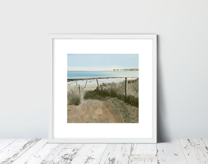 Studland Bay  Limited Edition Giclee Prints by Suzanne Whitmarsh   Established Dorset Artist  Beach Art, Fine Art Print