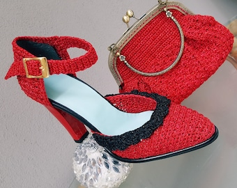 Knitted Shoes 8cm High Heel from CroShee