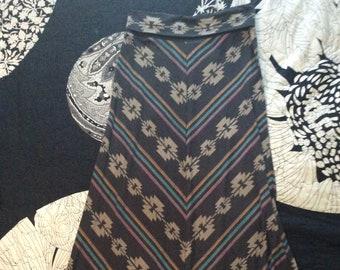 Boho Southwest Grey Knit Maxi Skirt