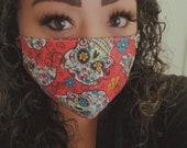 face mask face covering medical mask sugar skulls superhero floral cotton mask