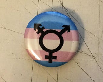 Trans* Pride Pin - 1 Inch Pinback Button