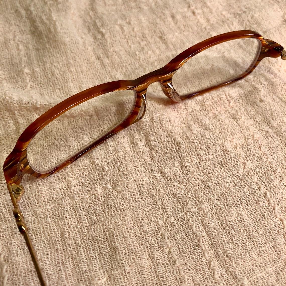 Escada Acetate Metal & Plastic Gold Brown VES061S VES 061 Eyeglasses Sunglasses Glasses Frames