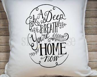 Home Pillow Cover - Throw Pillow - Home Decor - 20x20 Pillow Cover