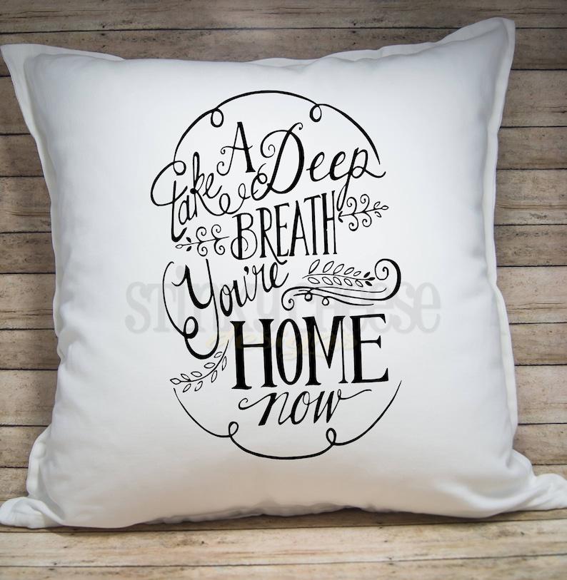 Home Pillow Cover  Throw Pillow  Home Decor  20x20 Pillow image 0