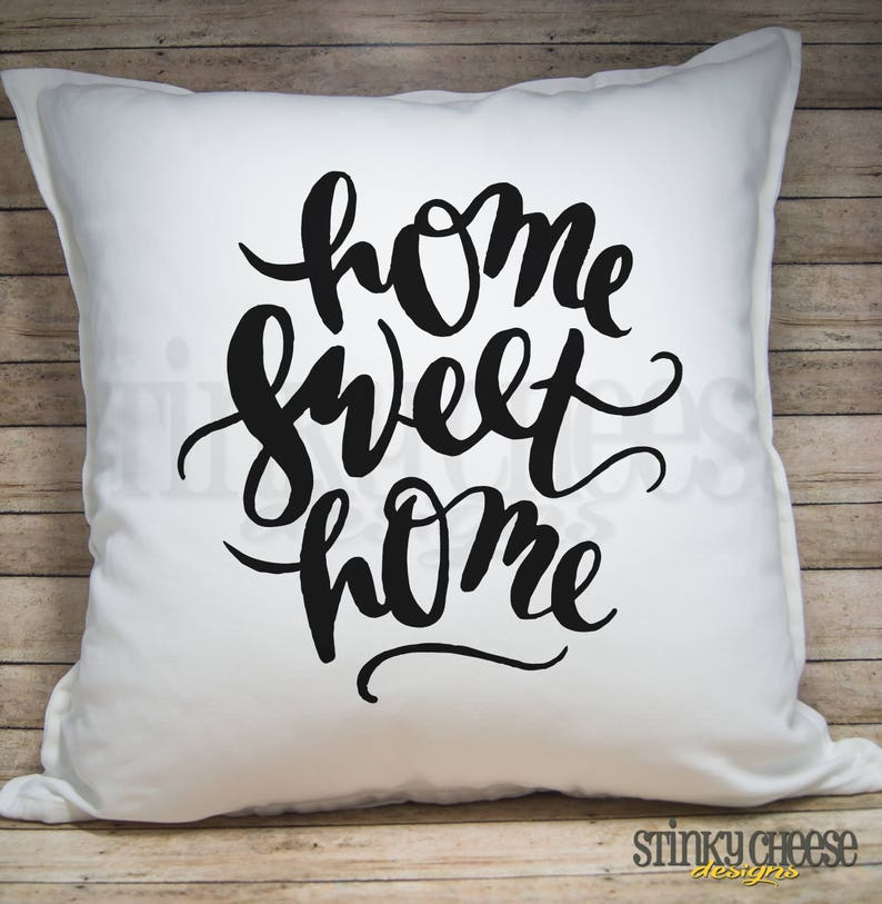 Home Sweet Home 20x20 Pillow Cover  Throw Pillow Cover image 0