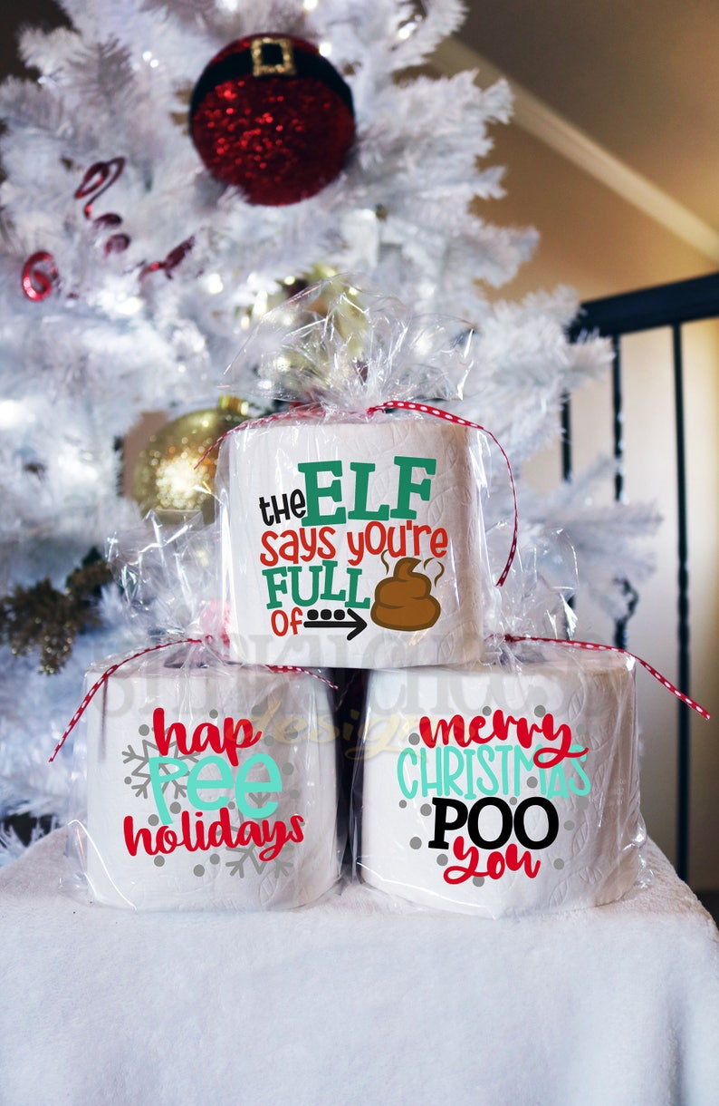 BUY 5 get the 6TH FREE Christmas Toilet Paper Gift  Gag image 0