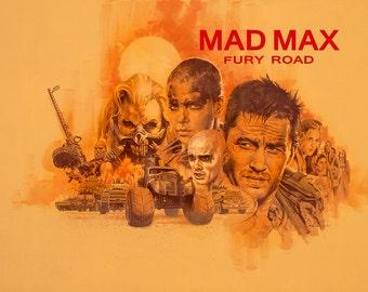 Mad Max, Mad Max Fury Road, Mad Max Print, Mad Max Wall Art, Mad Max Poster Print, Furiosa Print, Immortan Joe Print, Fury Road Art Print