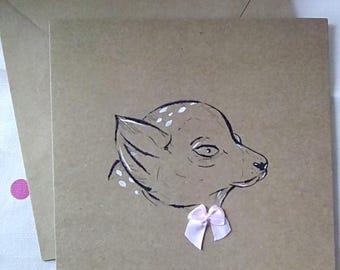 Lemur greetings card - Birthday card - Lemur - Handmade card - blank card - greetings card - cute lemur