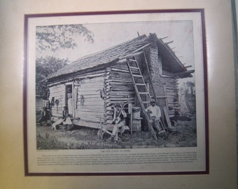 Old Folks at home. 1895 original print that is matted.