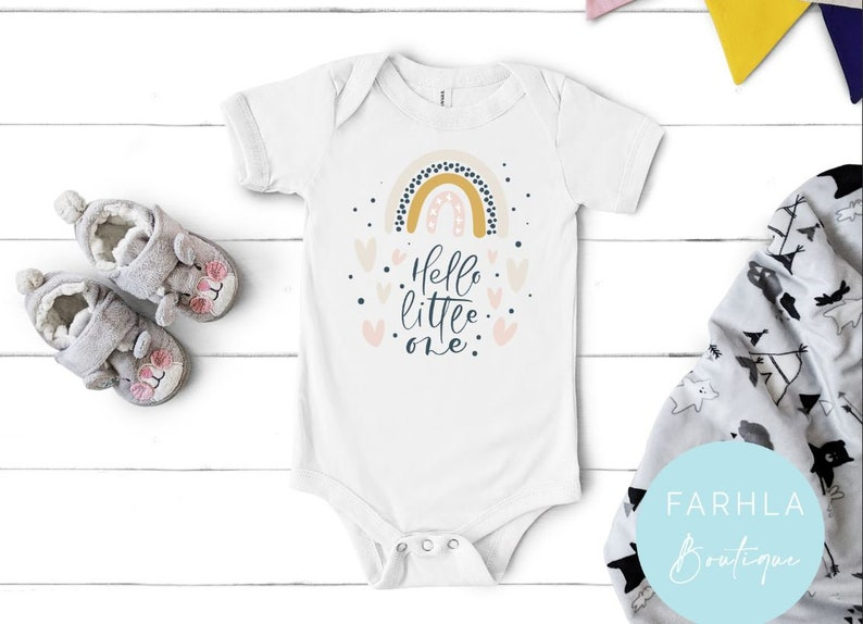 Baby Bodysuit Hello Little One Romper,Rainbow Baby Bodysuit Rainbow Baby Romper Baby Romper Baby Rainbow Rainbow Print Baby Clothes