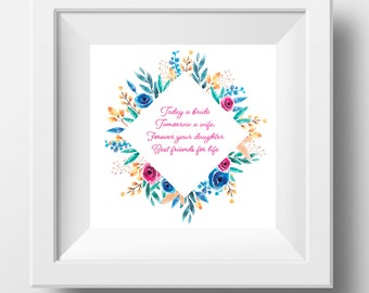 Mother of the Bride Print Incl. Frame!