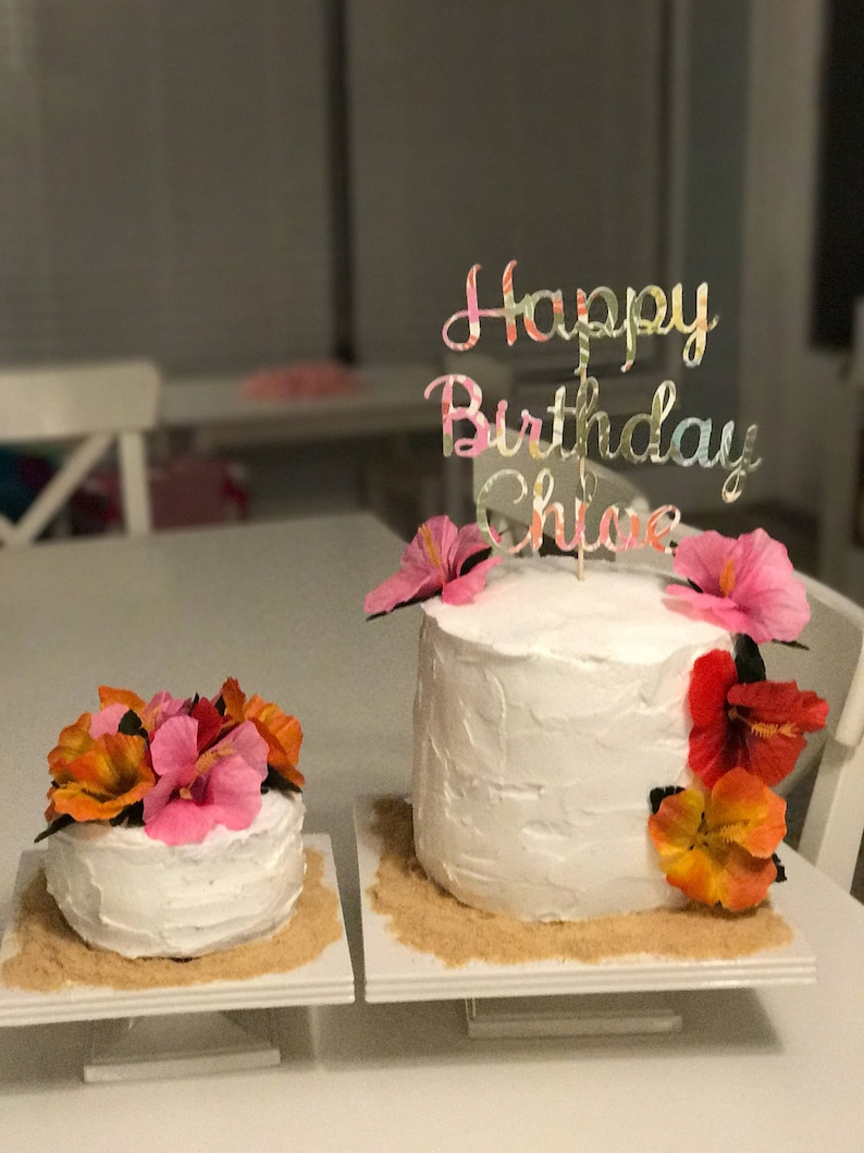 Luau Birthday Cake Topper